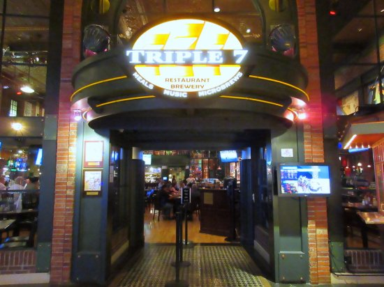 Image result for Triple 7 Restaurant and Microbrewery located inside Main Street Station Casino Brewery