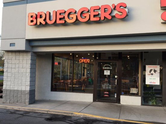 Image result for picture of bruegger's bagel shop