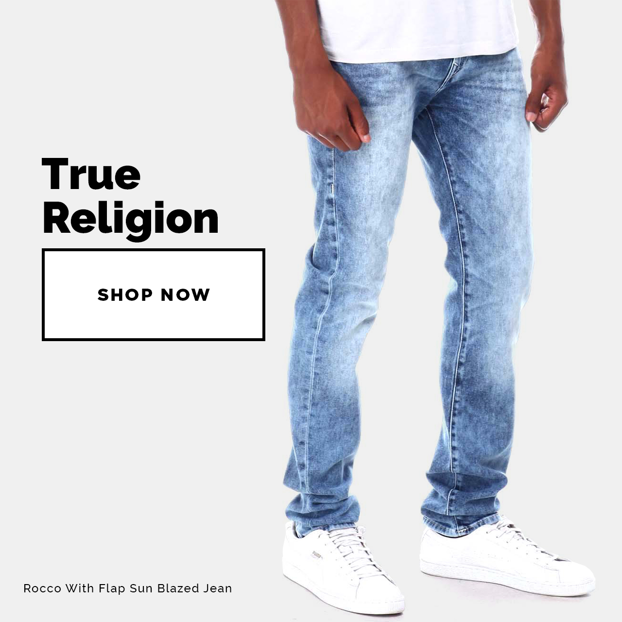 True Religion - Shop Now! Featuring Rocco With Flap Sun Blazed Jean
