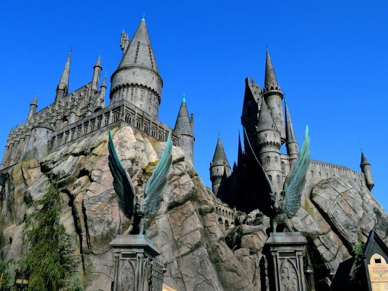Hogwart Castle, The Wizarding World of Harry Potter, at Universal Studios at Los Angeles, California.