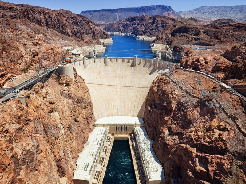 This lake may seem like a surprising inclusion on the list...until you realize its main draw is the Hoover Dam.
