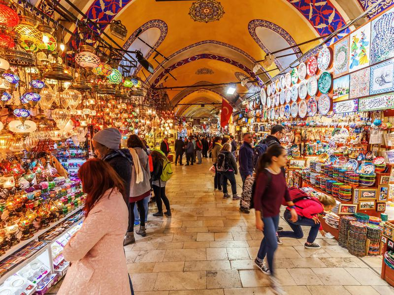 Grand Bazaar is one of the oldest markets in the world...and still the most packed.
