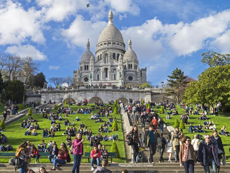 Sacre Couer is a top spot for walking and lounging.
