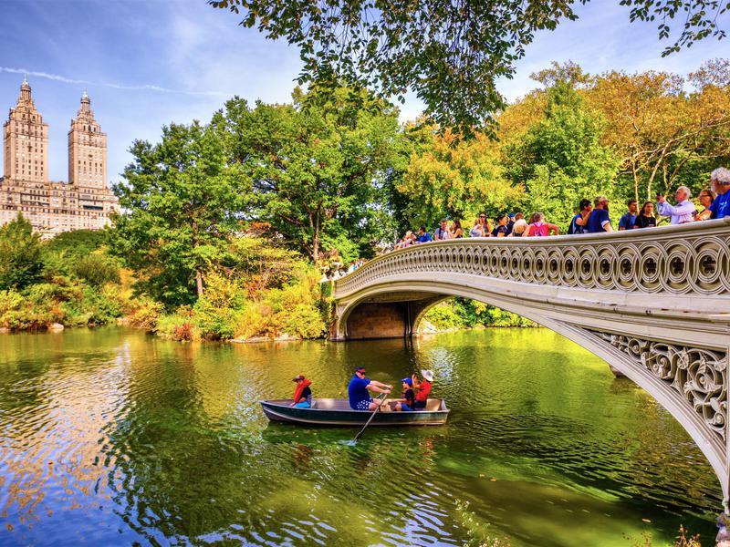 Central Park's Bow Bridge lures those seeking photo-ops.