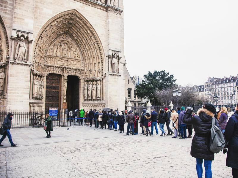 Believe it or not, Notre-Dame is visited by more people than the Eiffel Tower.