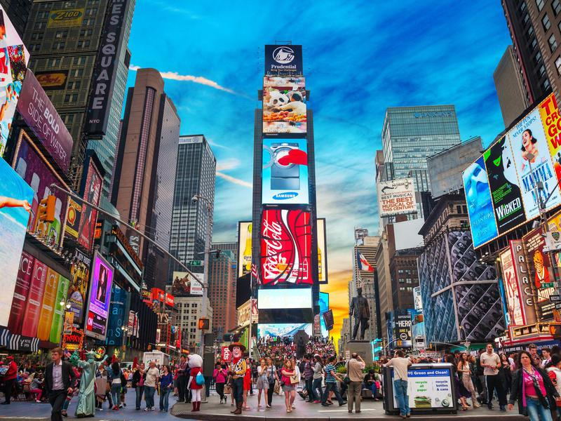 Times Square isn't the most visited attraction in the world...but it's close.