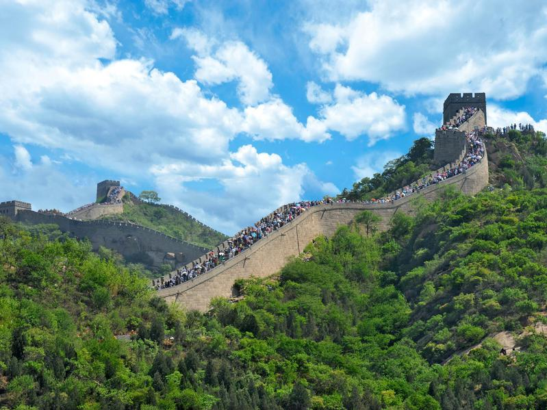 The Great Wall of China welcomes great numbers of visitors.