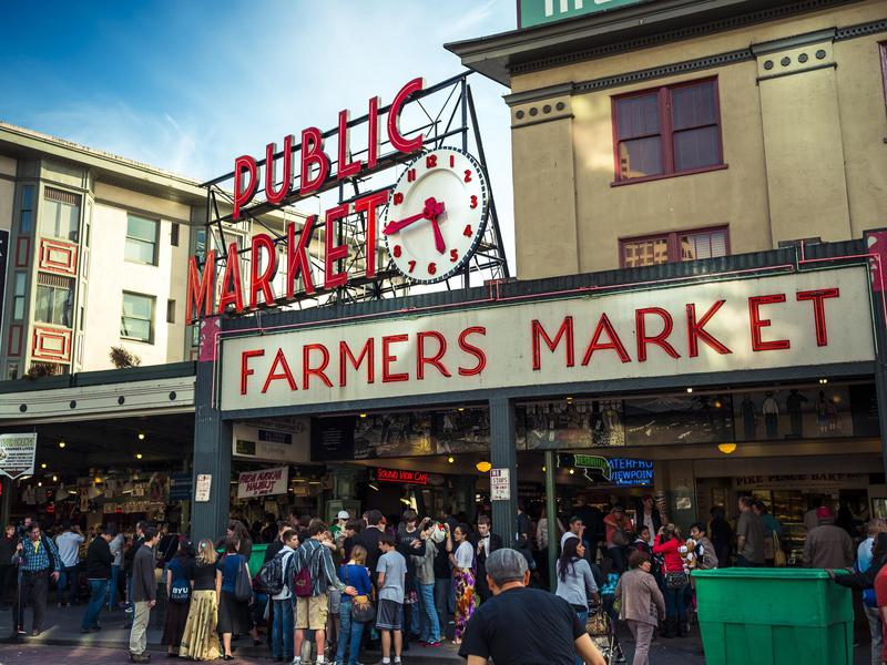 Seattle's bustling food market is particularly slammed on the weekends.