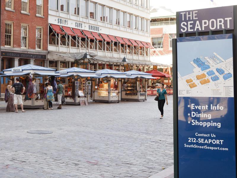 History and shopping are draws at the South Street Seaport.