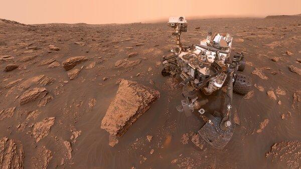 A self-portrait of NASA's Curiosity rover taken on Sol 2082.