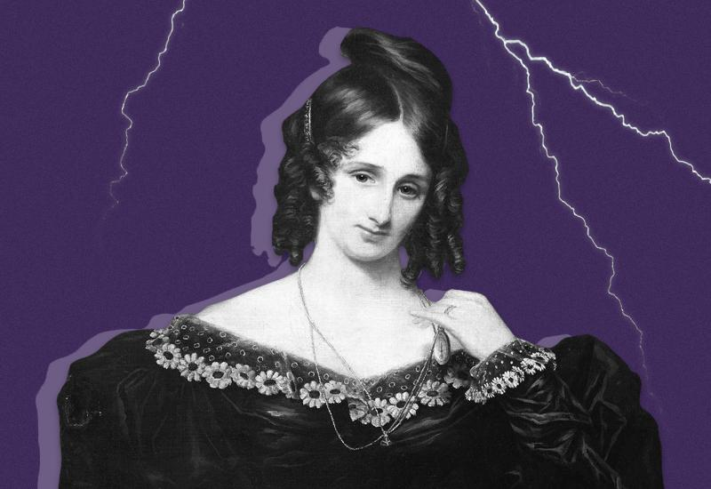 Mary Shelley starts writing Frankenstein (on a dare).