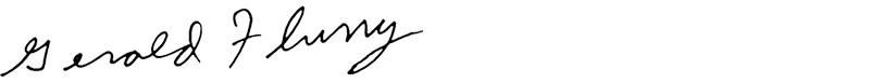 Gerald Flurry Signature