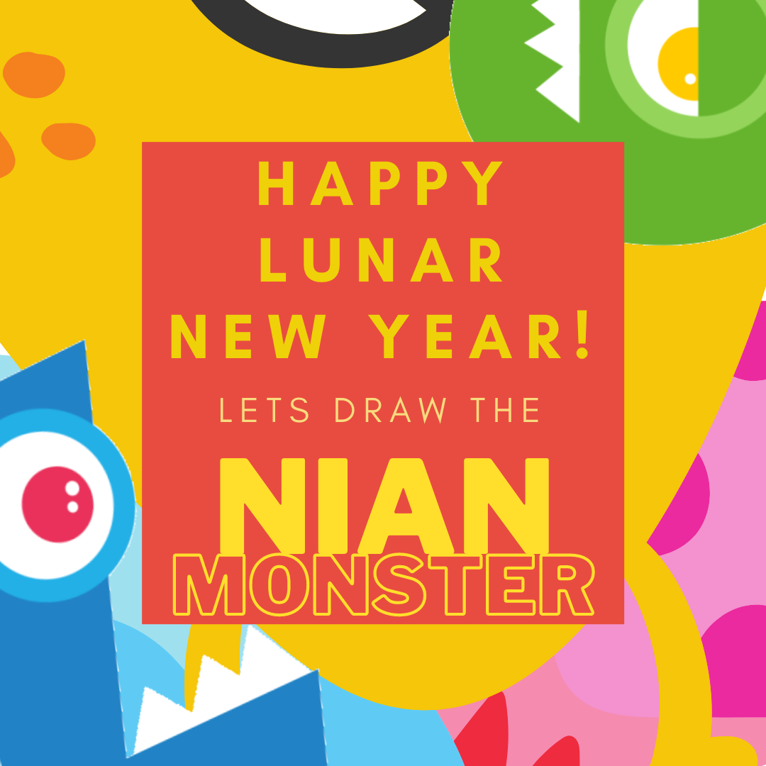 Learn how to draw your very own one-of-a-kind Nian monster.