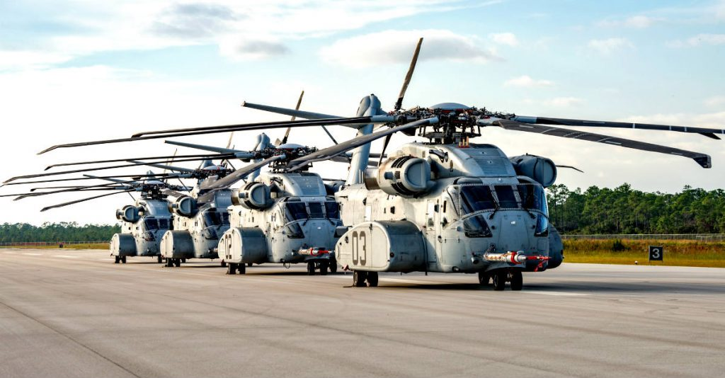 CH-53K King Stallions Lined Up