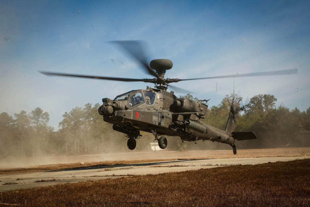 Apache Helicopter take off