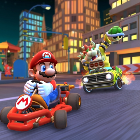Mario Kart Tour, the first Mario Kart game to launch for smartphones, is now available to download on iOS and Android devices. (Photo: Business Wire)