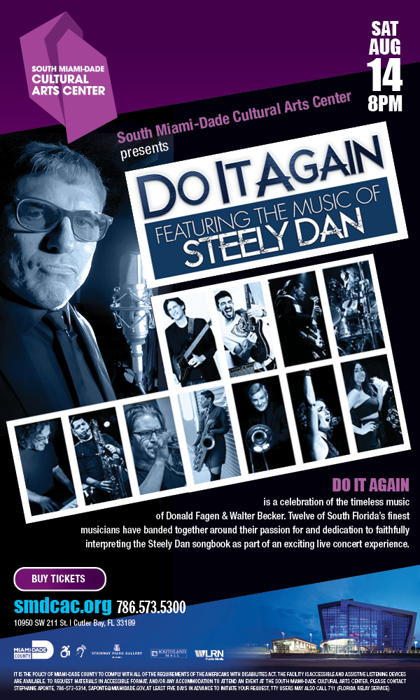 SMDCAC presents Do it Again feat. The Music of Steely Dan on August 14