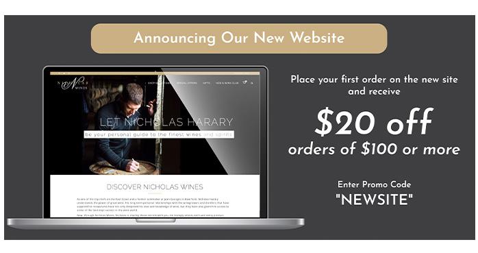 Nicholas Wines New Website