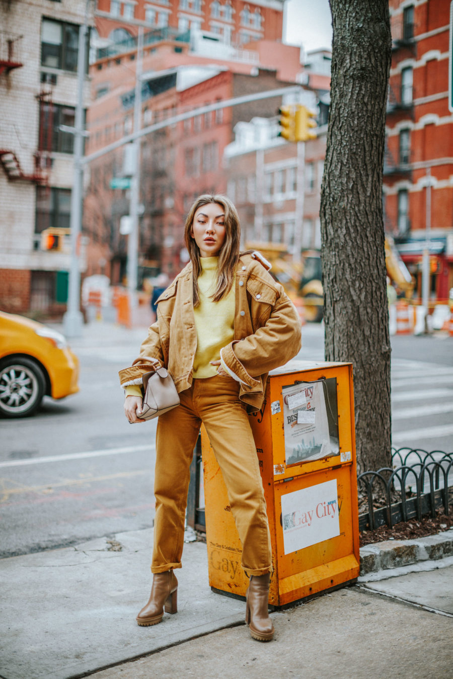 fashion blogger jessica wang wearing lug sole boots and sharing packing tips for a mini fall getaway // Jessica Wang - Notjessfashion.com