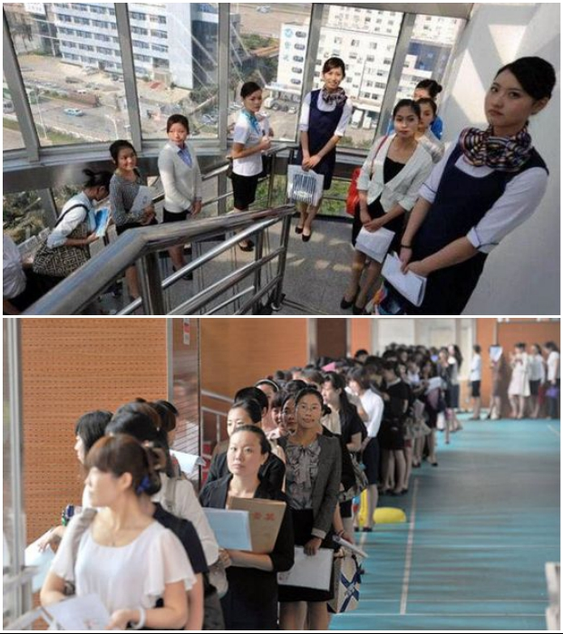 Огромное количество молодых людей приходит на кастинги, проводимые представителями Лоянского колледжа. | Фото: mega-people.com.