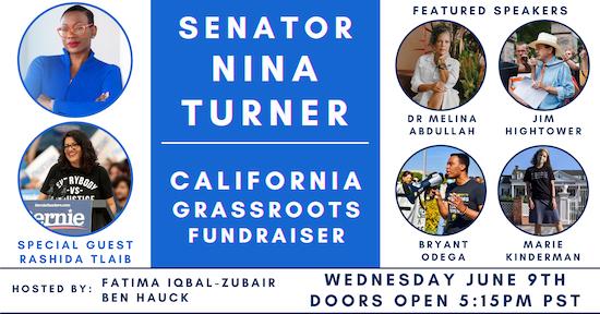 Senator Nina Turner Grassroots Fundraiser