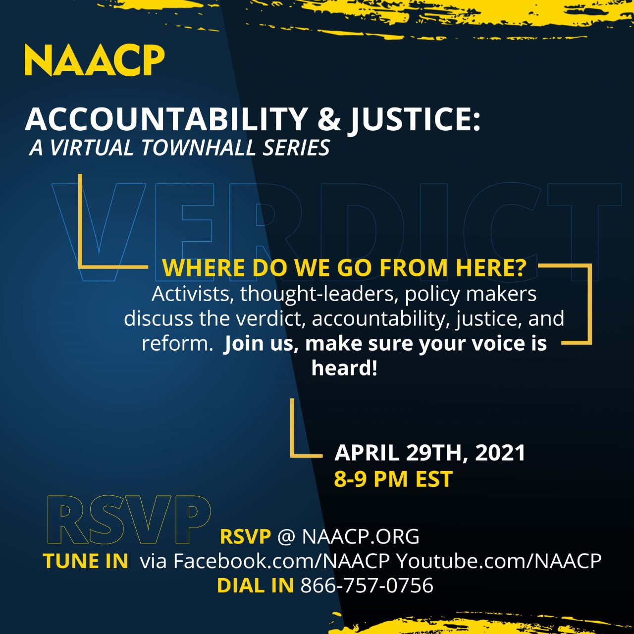 RSVP - Accountability and Justice Town Hall April 29 - NAACP