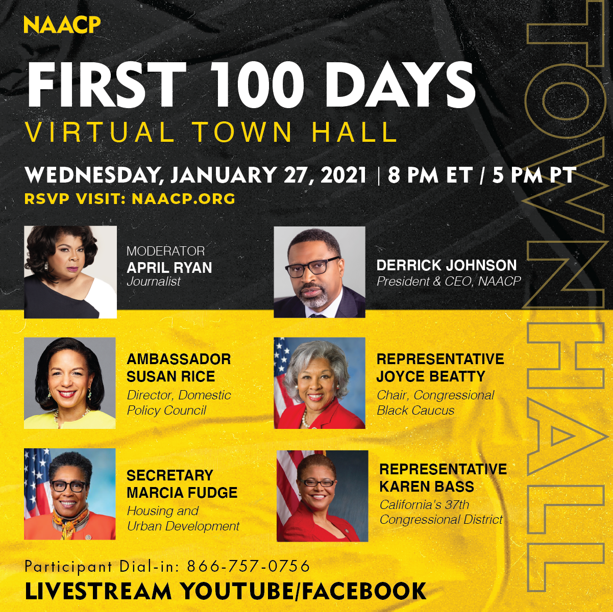 First 100 Days virtual town hall @ Online