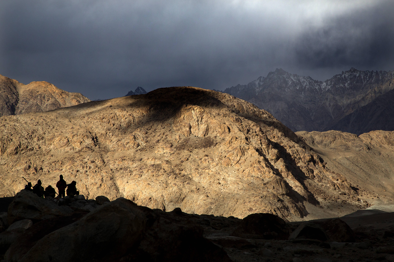 Pangong Lake in the Ladakh region in September 2018. (Manish Swarup/AP)