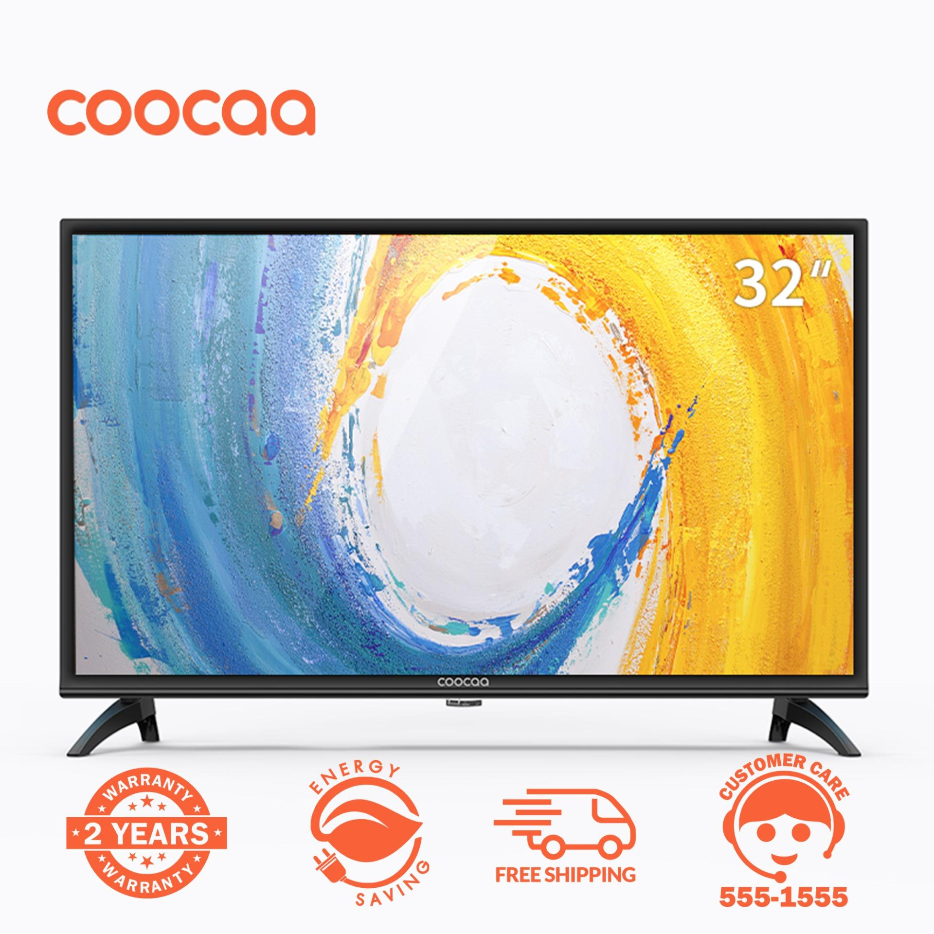 COOCAA 32 Inch HD LED TV Panel black - Slim-USB/HDMI (Model 32W4)