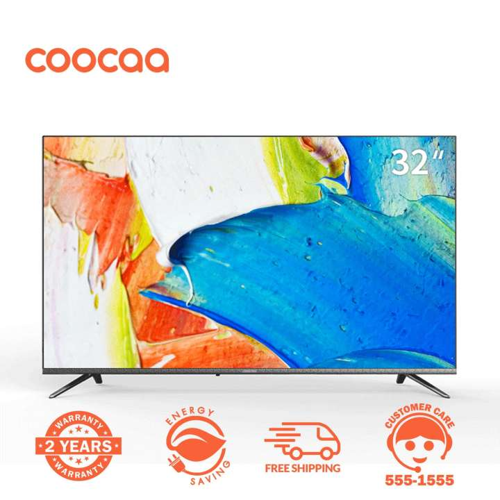 COOCAA 32 Inch Smart Netflix Built-In Frameless HD LED TV - Wifi (Model 32S3N)