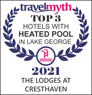 hotel with heated swimming pool in Lake George
