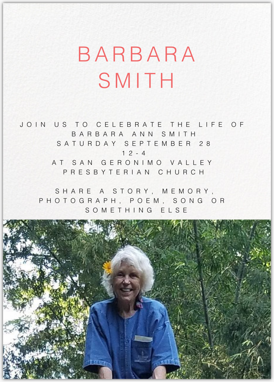Enable images to view Barbara Smith Memorial
