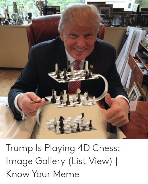Trump Is Playing 4D Chess Image Gallery List View | Know Your Meme ...