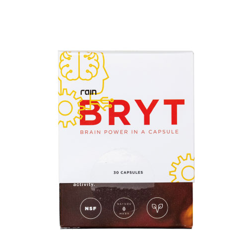 1 box of BRYT (30 capsules) 33 CVBRYT is specially formulated to provide your brain with the nutrients it needs to function at its peak. Our proprietary blend of all-natural ingredients work synergistically to enhance cognition, improve memory, boost creative thinking, and increase neuron activity. It's brain food that's seed-based, which makes it better.