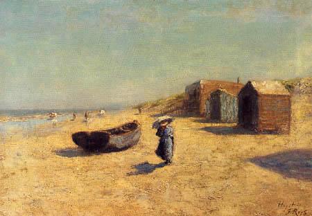 Félicien Joseph Victor Rops - La plage de Heyst