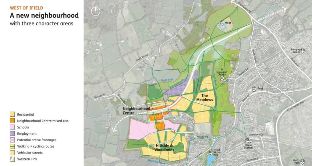 Neighbourhood character areas on a map