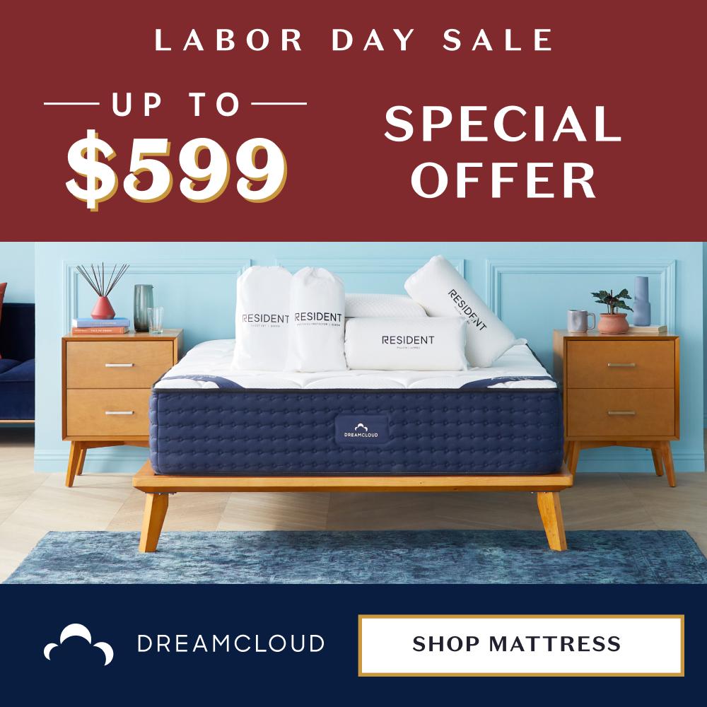 DreamCloud Labor Day Sale 2021