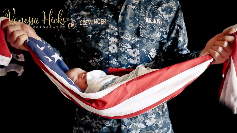 Veteran Wraps Baby in American Flag, Photo Sparks Controversy - ABC News