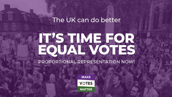 The UK can do better. It's time for equal votes!