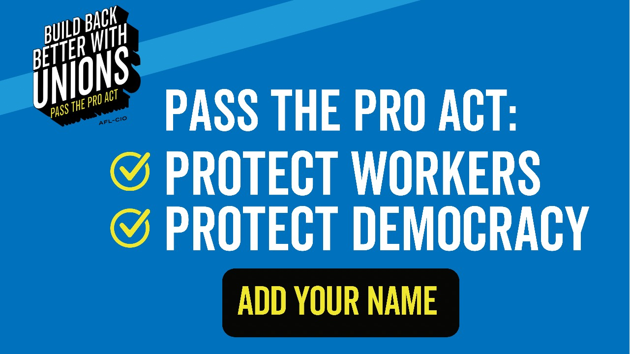 PETITION: I support workers and democracy!
