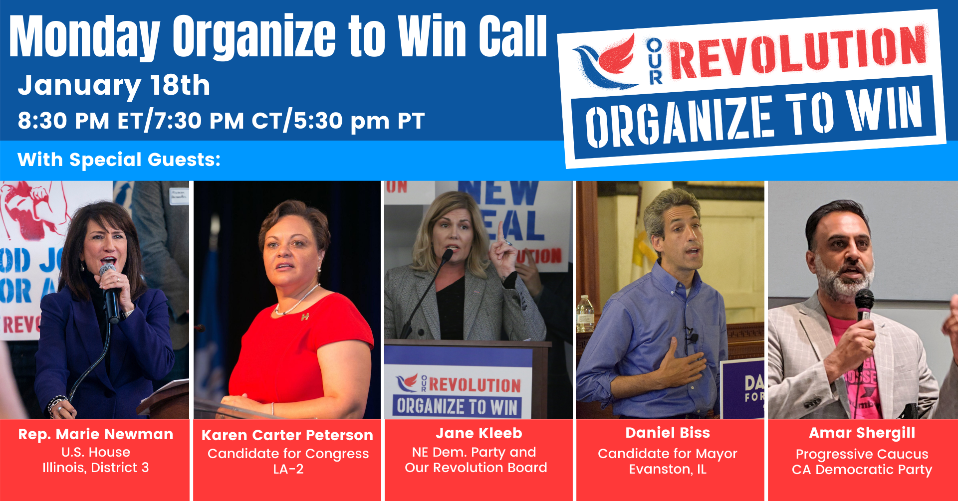 National Organize to Win Call @ Online
