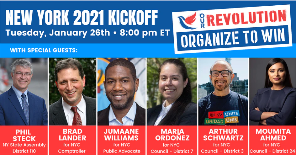 Our Revolution New York 2021 Kickoff @ Online