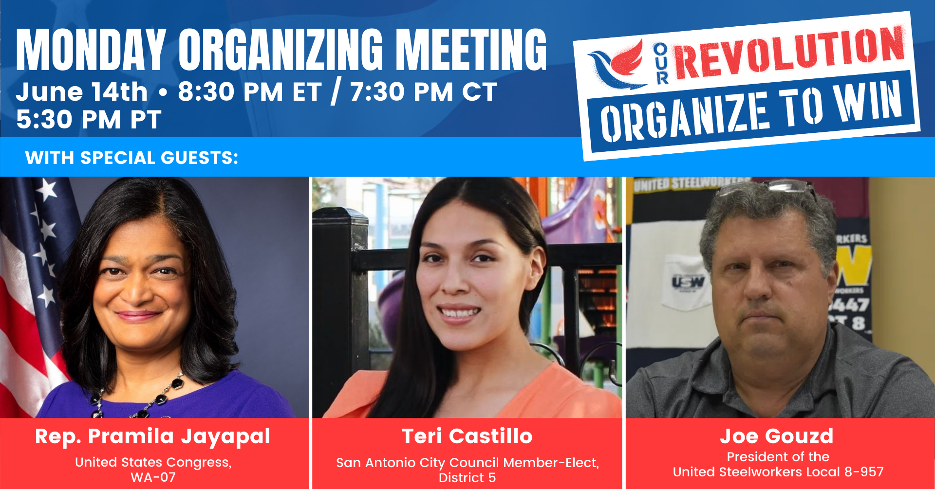 Our Revolution Monday Organizing Meeting @ Online