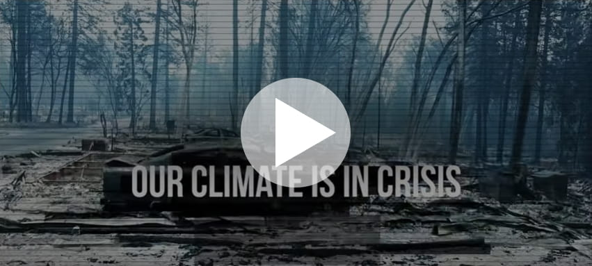 Our climate is in crisis. Ad screenshot