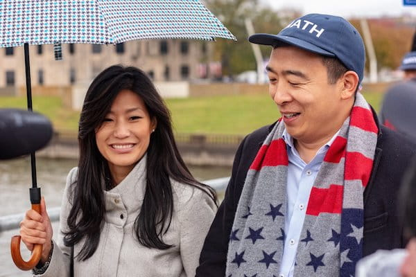 Evelyn and Andrew Yang in Iowa