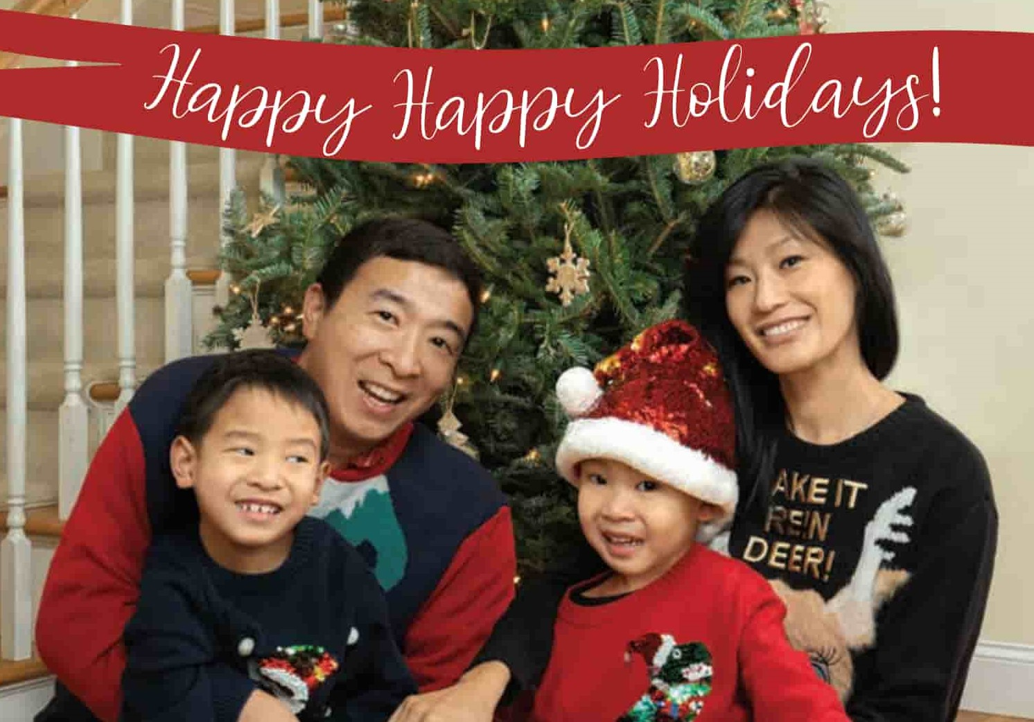 Happy Happy Holidays! Image of the Yang family