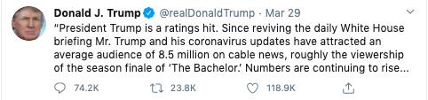 turn on images to see Trump tweet
