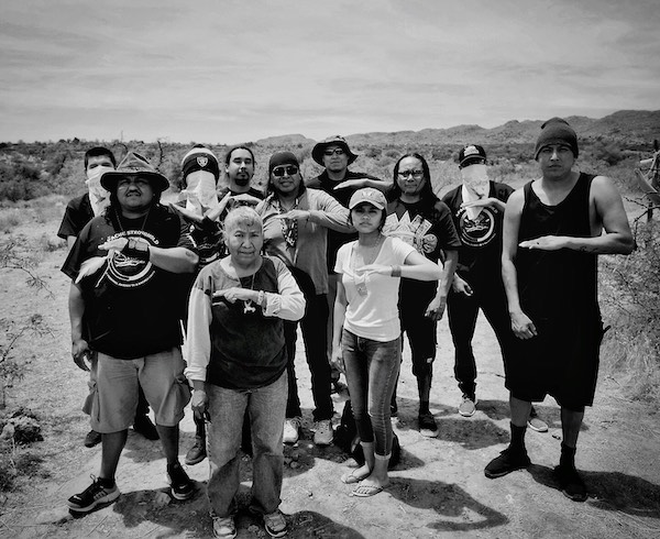 Apache-Stronghold members at Oak Flat