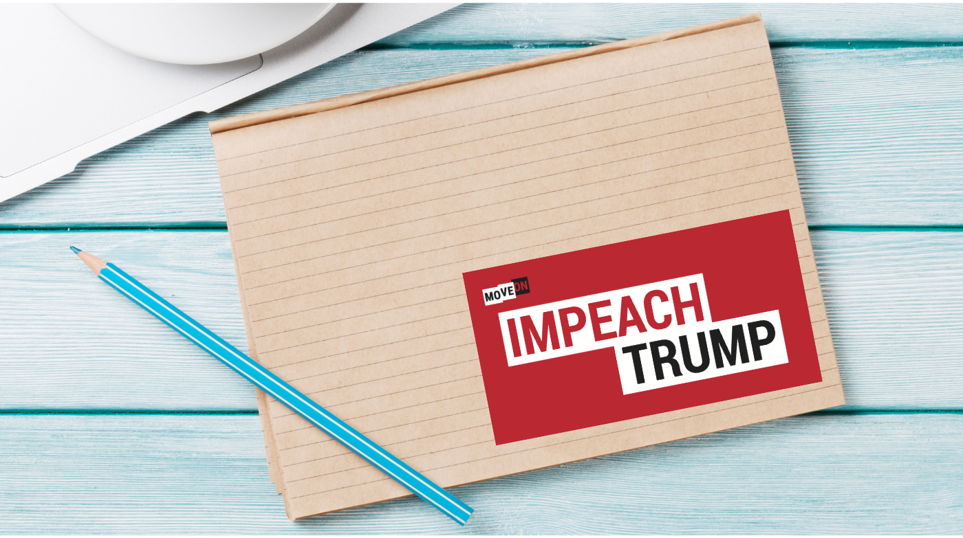 You can put the sticker on your laptop, your notebook, your car bumper, or any place you want to show that you support impeaching Donald Trump. Click here now.