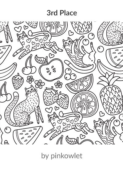 3rd place in the Food Frenzy Lake Coloring Book design challenge: pinkowlet